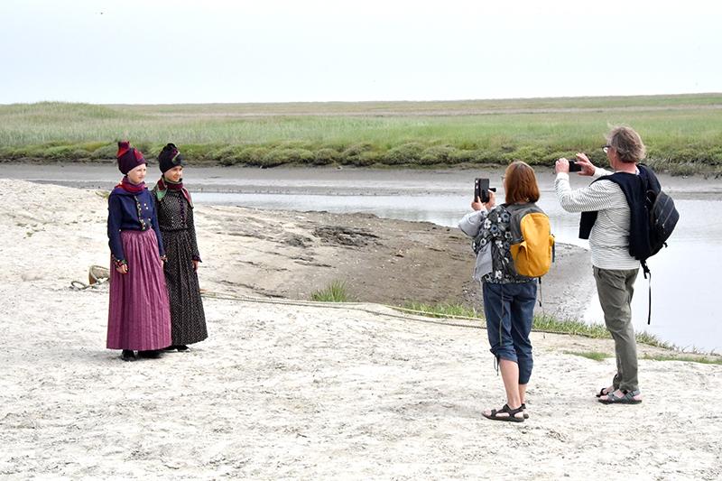 Isabella Jørgensen og Ella Wohlert blev flittigt fotograferet.