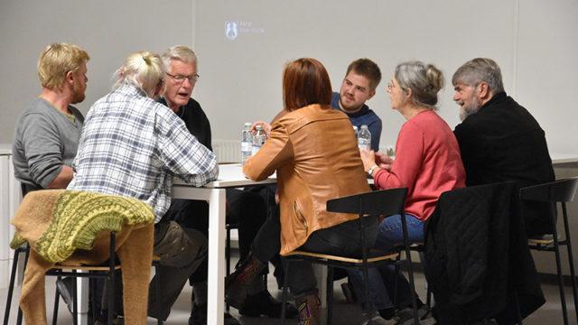 Gruppearbejde på møde om bæredygtighed på Fanø