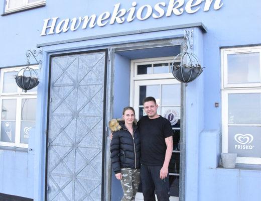 Helle Bo Jørgensen fra Løven & Nymfen samt Casper Jensen genåbner Havnekiosken mandag den 1. juni.