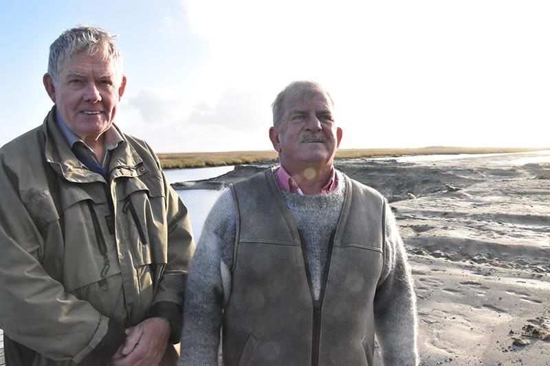Formand Anders Bjerrum og Christian Fischer fra bestyrelsen i støtteforeningen ser frem til at kunne indvie havnen 14. maj.