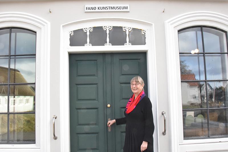 Birgit Knudsen glæder sig til at byde gæsterne velkommen.