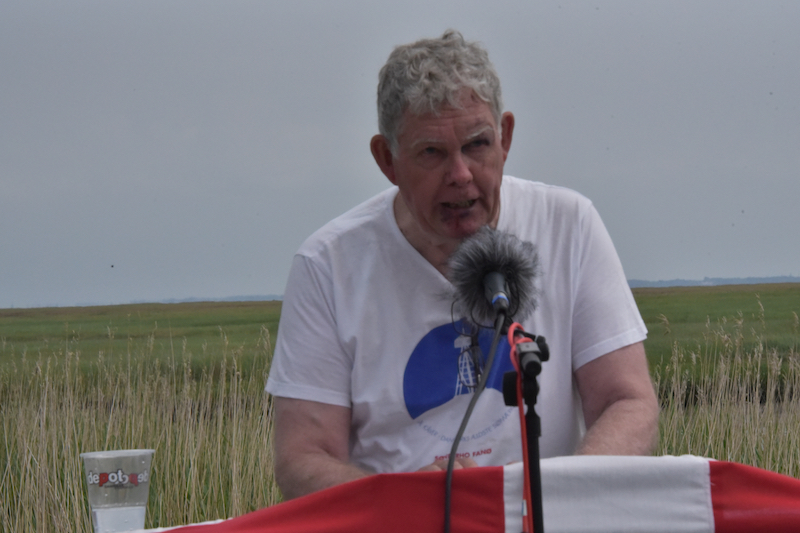 Formanden for Sonderho havn Støtteforening, Anders Bjerrum, holdt hovedtalen.