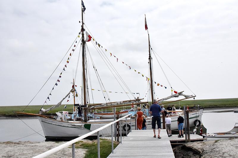 Der var åbent skib på Rebekka og Vadehavet. Det benyttede mange gæster sig af.
