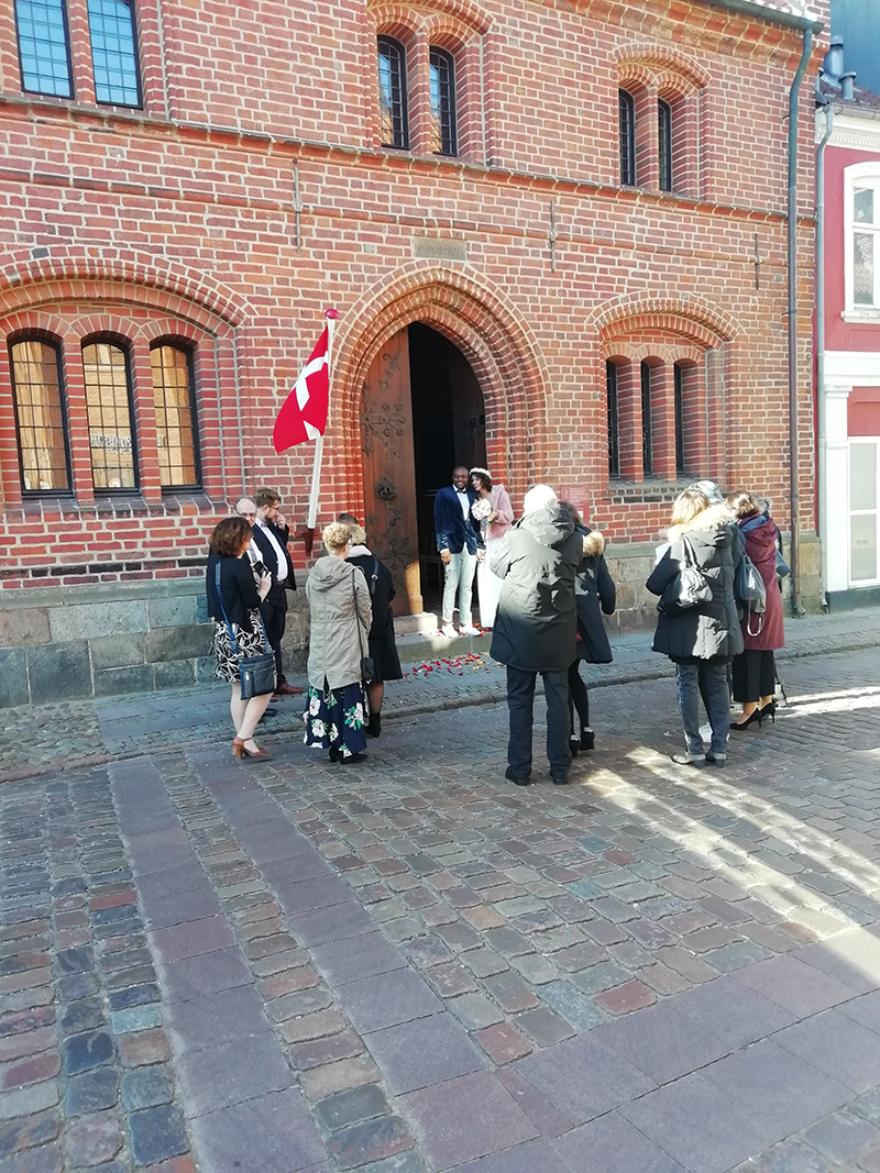 Også Ribe har som Fanø mange vielser af udenlandske par.