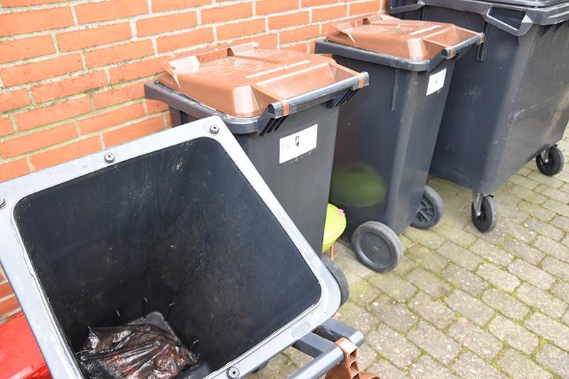 Bioaffaldsbeholdere på Fanø