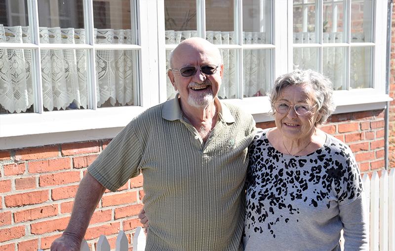 Parret har været glade for at bo i huset, men søger nu noget mindre.