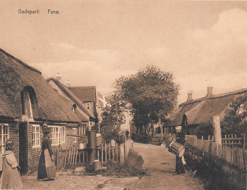 Gadeparti fra det gamle Fanø.