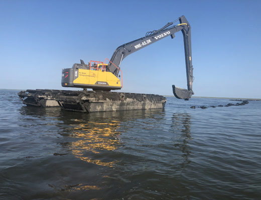 Uddybningen af sejlrenden i Sønderho Havn er færdig i efteråret.
