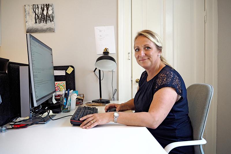 Marianne Milter Bay driver Fanø Firmaevent fra sit hjemmekontor.