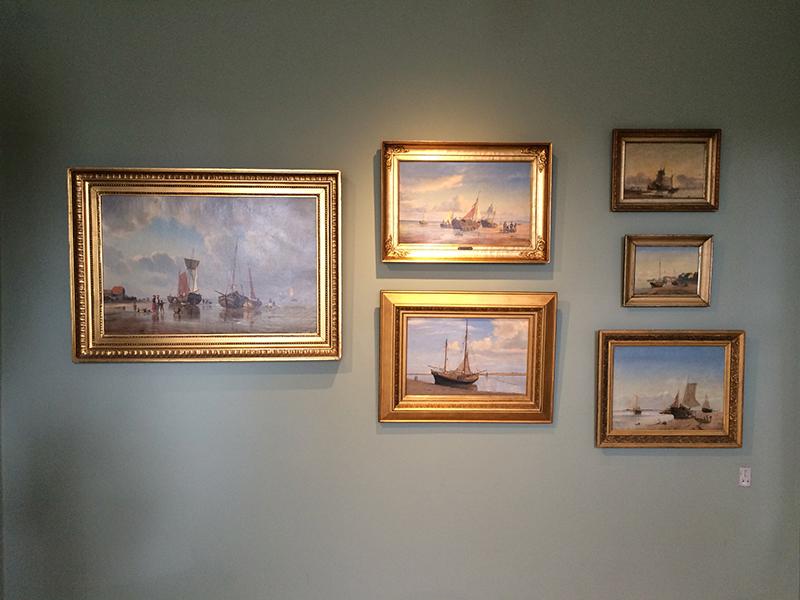 Samlingen 170 års Vadehavskunst på Fanø indeholder mange skønne søfartsmotiver. PR-foto: lissiemarie.dk.