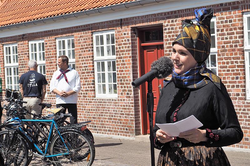 Borgmester Sofie Valbjørn holdt for første gang tale iført fannikerdragt og var stolt og ydmyg over det.