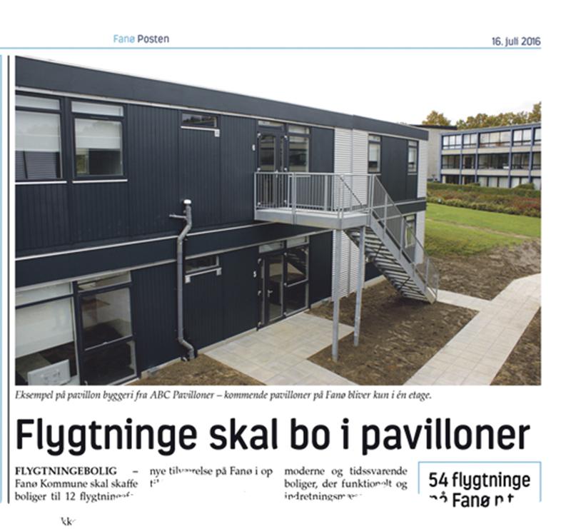 Fanø Posten den 16. juli 2016.