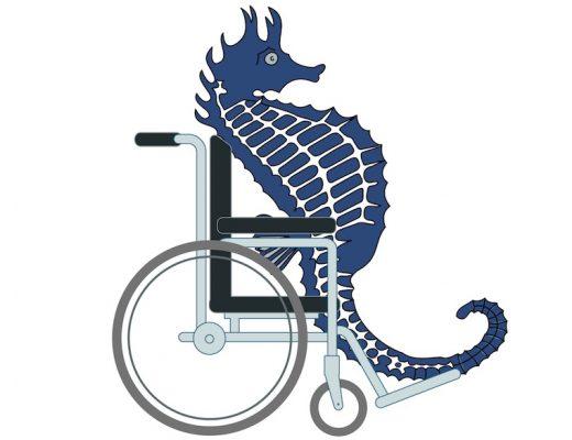 Søhest i kørestol