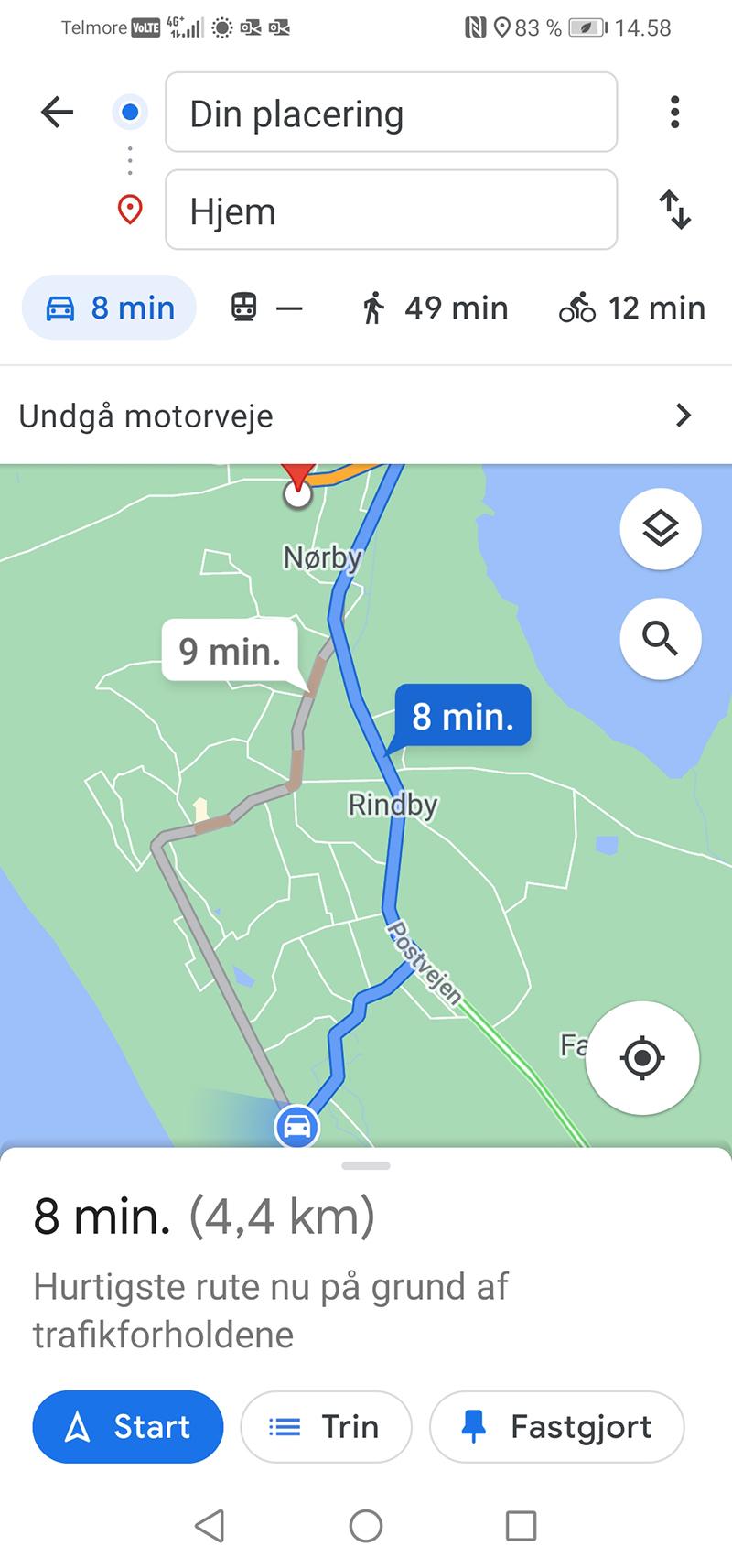 Google Maps er glad for Gøgevej, som det ses her.